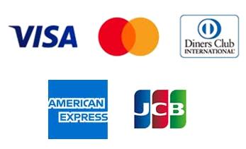 クレジットカード決済が本日より可能になりました